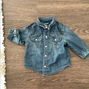 Oshkosh chambray button up size 18 months